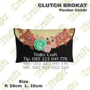 Clutch Pandan Brokat