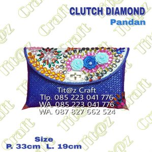 Clutch Pandan Diamond